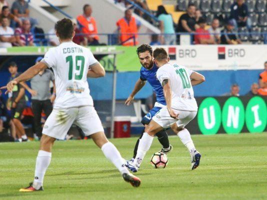 Aurelian Chitu in meciul de fotbal dintre FC Viitorul Constanta si Concordia Chiajna din etapa a VII-a a Ligii Orange, disputat pe stadionul Central din Ovidiu, luni 12 septembrie 2016.