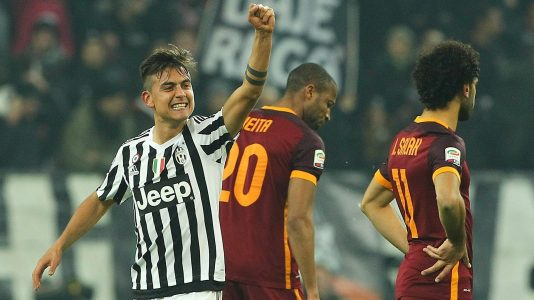 during the Serie A match between Juventus FC and AS Roma at Juventus Arena on January 24, 2016 in Turin, Italy.