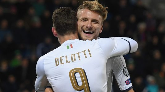 VADUZ, LIECHTENSTEIN - NOVEMBER 12:  Ciro Immobile of Italy celebrates after scoring the second goal during the FIFA World Cup 2018 group G Qualifiers football match between Liechtenstein and Italy at  the Rheinpark Stadion on November 12, 2016 in Vaduz,Liechtenstein .  (Photo by Claudio Villa/Getty Images)