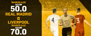Super meci, super cote! Finala Ligii Campionilor: Real are cota 50.00 la victorie! Pariaza pe Liverpool la cota 70.00!
