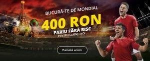 Bucura-te de mondial »» 400 RON pariu fară risc!