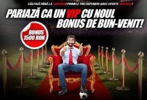 Bonus incendiar: castigi 100%! 1500 RON sunt la doar cativa pasi distanta!