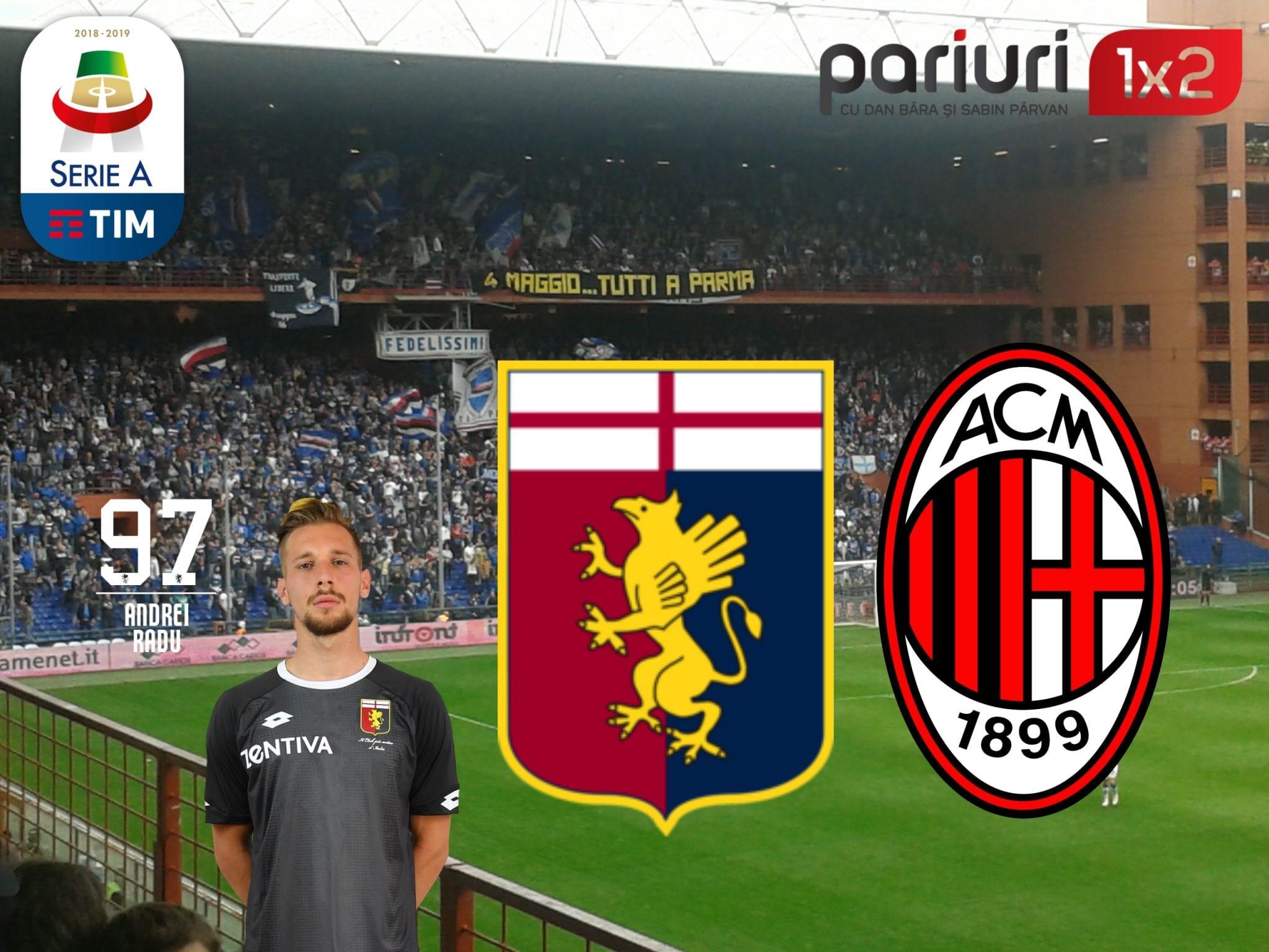 """Genoa – AC Milan» """"Diavolii"""" nu mai au scuza! Un scenariu favorabil oaspetilor vine in COTA 1.57!"""
