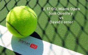 Sam Querrey – David Ferrer: SERVICIUL detroneaza EXPERIENTA! Pariurile echipei noastre au cote 1.57 si 1.90!