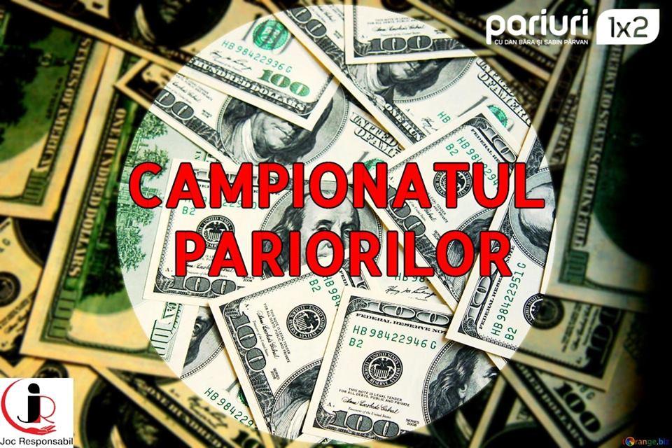 Campionatul Pariorilor este locul de intalnire al celor mai buni tipsteri din Romania! Intra in cursa pentru premiile in valoare de 6000 RON lunar!!