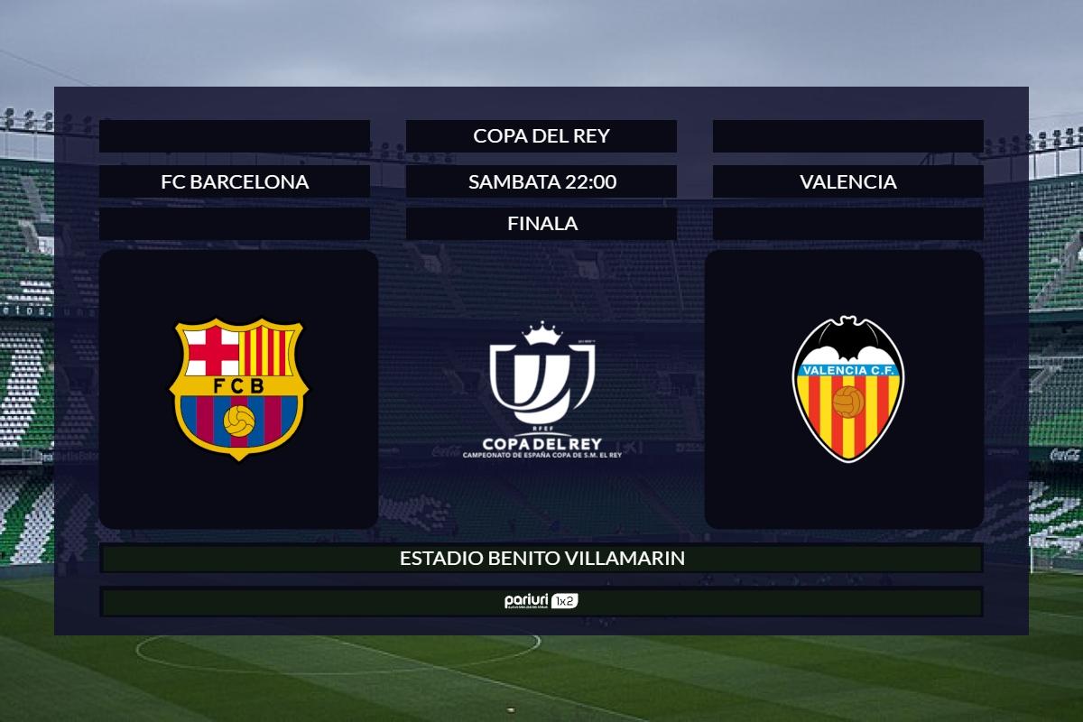 FC Barcelona – Valencia: Se anunta spectacol in finala Cupei Spaniei | Aici ai doua propuneri pentru disputa de pe Estadio Benito Villamarin!