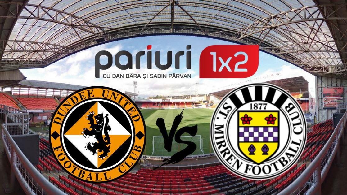 Finala care decide echipa salvata, dar si ultima promovata din Scotia: Dundee United – St. Mirren | Pariem cotele 1.70 si 1.72