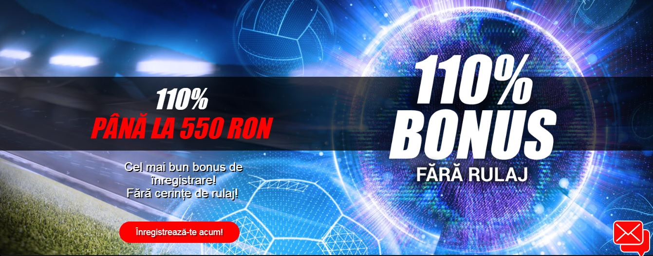 Super Bonus de inregistrare la Winmasters! 110% pana la 550 lei!
