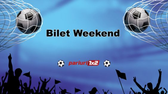 Biletul weekend-ului pariuri1x2.ro »» 4 selecții pentru o cotă totală de 5.45!