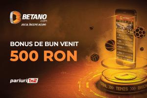 Joaca la pariuri cu 500 RON gratuiti de la Betano! Profita ACUM de oferta!
