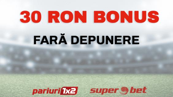 Pariuri1x2 exclusiv: Ai 30 ron Bonus FARA DEPUNERE de la Superbet!