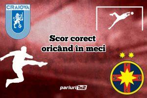 """Fotbal Ponturi de Top » """"U"""" Craiova – FCSB: Optiunea """"scor corect oricand in meci"""" are cota 2.30!"""