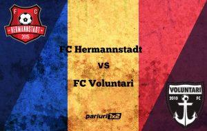 Pariuri fotbal » FC Hermannstadt – FC Voluntari » Duel sub semnul echilibrului în play-out!
