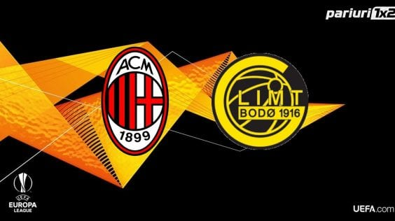 Ponturi fotbal online » AC Milan – Bodo/Glimt: Selectii pe goluri in cote de 1.45 si 1.72!