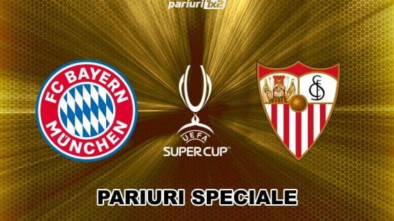 Ponturi fotbal » Bayern – Sevilla: Pariuri speciale pentru Supercupa Europei!