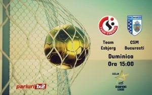 Pariuri handbal » Esbjerg – CSM Bucuresti: Duel intre primele doua clasate din grupa A!