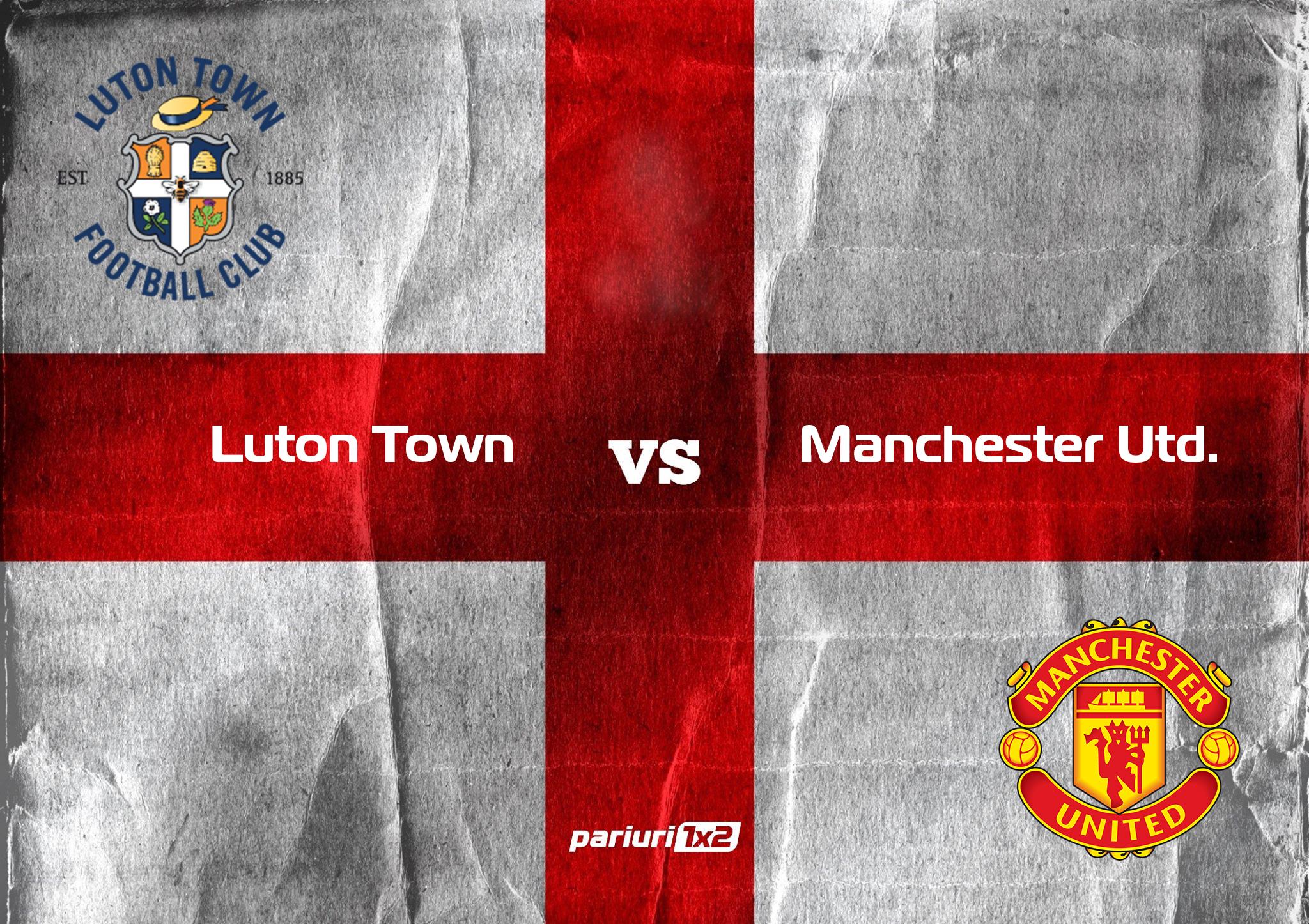 """Ponturi fotbal » Luton Town – Manchester United: """"diavolii"""" vor sa razbune ultimele esecuri cu un succes in Cupa Ligii Angliei! Cota 1.74"""