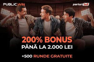 2000 RON + 500 RUNDE GRATUITE »» La PublicWin ai DOUĂ BONUSURI de bun venit!