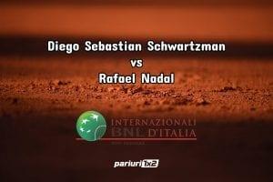 Pariuri tenis » Schwartzman – Nadal: Pariu special pentru disputa de la Roma!