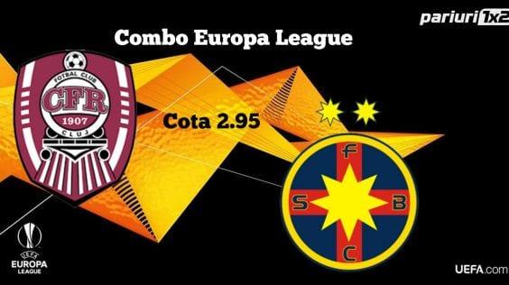 """Pariuri fotbal » CFR Cluj și FCSB atacă play-off-ul Europa League » Noi atacăm profitul cu un """"combo"""" în cota 2.95!"""