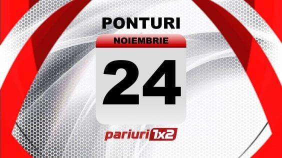 Calendar evenimente (24 noiembrie) » VEZI AICI cele mai tari avancronici pregatite de Pariuri1x2!