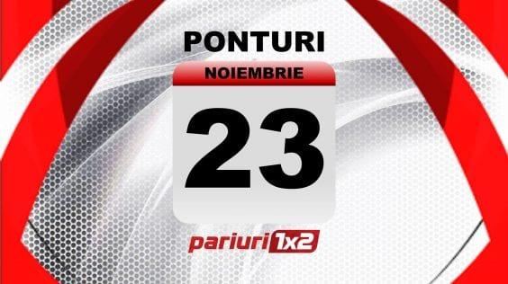 Calendar evenimente (23 noiembrie) » VEZI AICI cele mai tari avancronici pregatite de Pariuri1x2!
