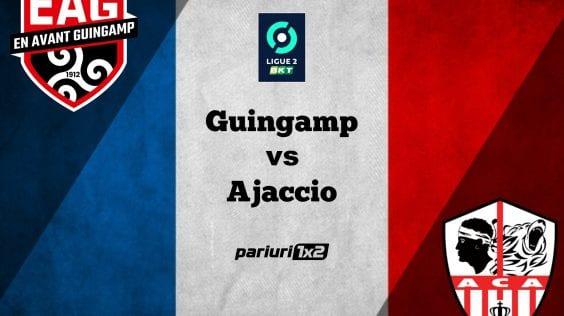 Ponturi fotbal online » Guingamp – Ajaccio: Variante in cote de 1.47 si 2.90 pentru duelul din Ligue 2!