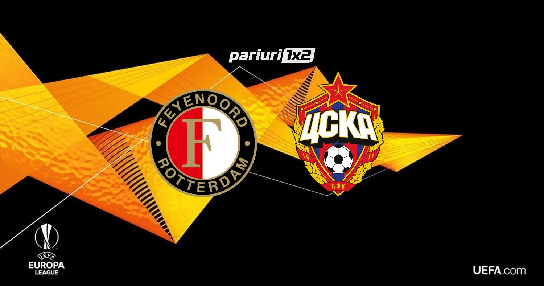 Pariuri fotbal » Feyenoord – TSKA Moscova: Olandezii sunt disperati dupa puncte!