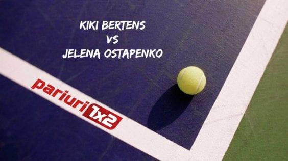Pariuri tenis » Bertens – Ostapenko: Kiki nu a mai jucat din luna octombrie!