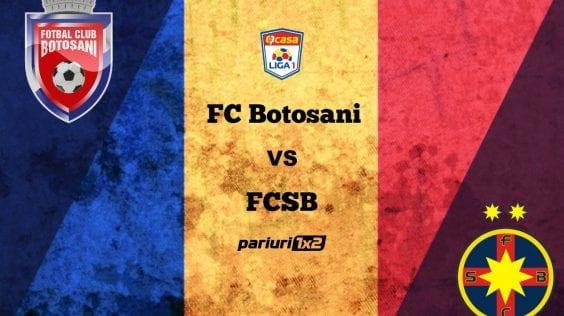 Pariuri fotbal: FC Botoșani – FCSB » Moldovenii zic că vor revanșa. Să-i credem?