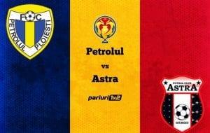 Pariuri fotbal: Petrolul – Astra » Giurgiuvenii favoriți la calificarea în semifinalele Cupei României!