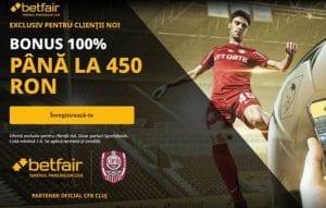 Bonus exclusiv Betfair: 450 RON de pariat!