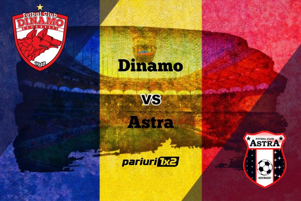 """Pariuri fotbal: Dinamo – Astra » În returul semifinalei Cupei din """"Groapă"""" se pleacă de la 0-1!"""