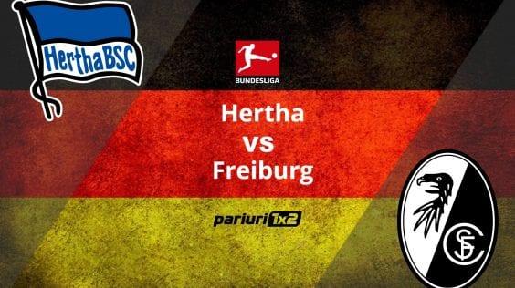 Pariuri fotbal: Hertha – Freiburg » Trei egaluri consecutive pentru berlinezi