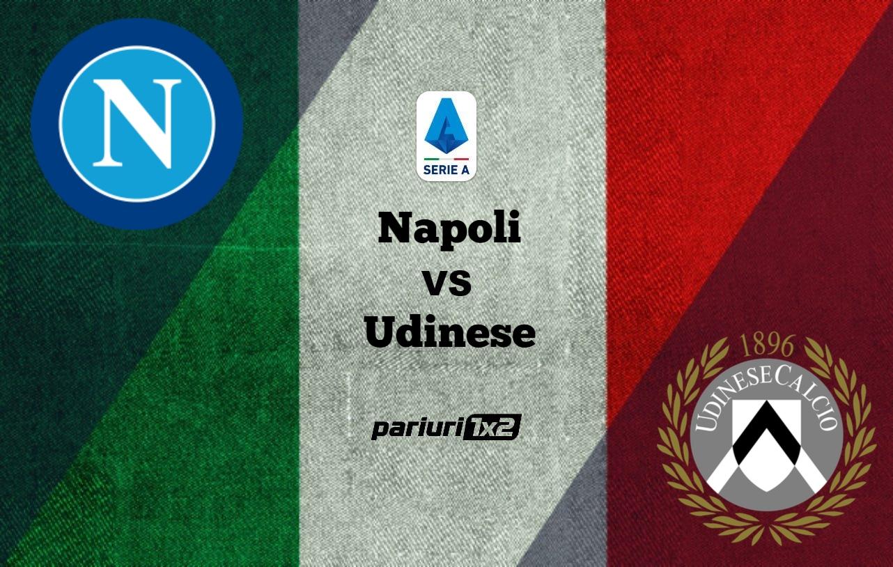 Pariuri fotbal: Napoli – Udinese » Trupa de langa Vezuviu, la trei victorii de Liga Campionilor