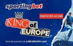 King of Europe: Începe EURO 2020 cu un Free Bet de 4 RON »» Luptă pentru premii în valoare de 4.000.000 RON!