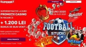 Intre 11 iunie – 11 iulie ai SuperDistractie la EURO! Rotiri gratuite la sloturi si bonusuri live casino la Superbet!