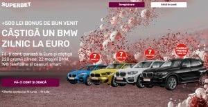 Pariaza la EURO 2020 si castiga un BMW zilnic cu Superbet, telefoane si ceasuri smart!
