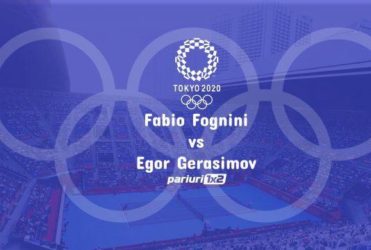 Ponturi bune Fognini - Gerasimov