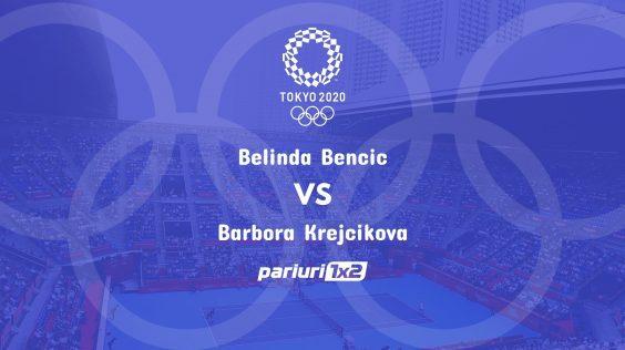 Pariuri tenis » Bencic – Krejcikova: Barbora are un singur esec in ultimele 23 de meciuri!