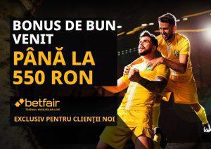 Bonus exclusiv Betfair » 550 RON BONUS de bun venit!
