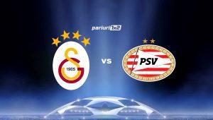 Pariuri fotbal: Galatasaray – PSV: 6 goluri înscrise în partida tur »» Vezi pe ce mizăm!