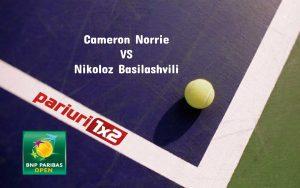 Pariuri tenis » Norrie – Basilashvili: Finala surpriza la Indian Wells 2021!
